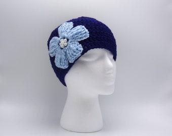 ac3856302f793 Crochet Spring Flower Beanie