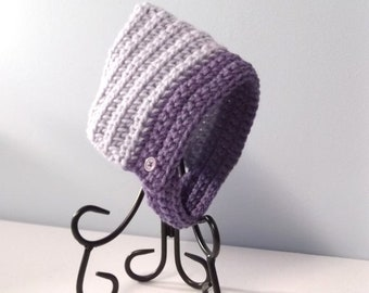 SALE Little Gnome Chinstrap Hat - newborn - lavender -  ready to ship