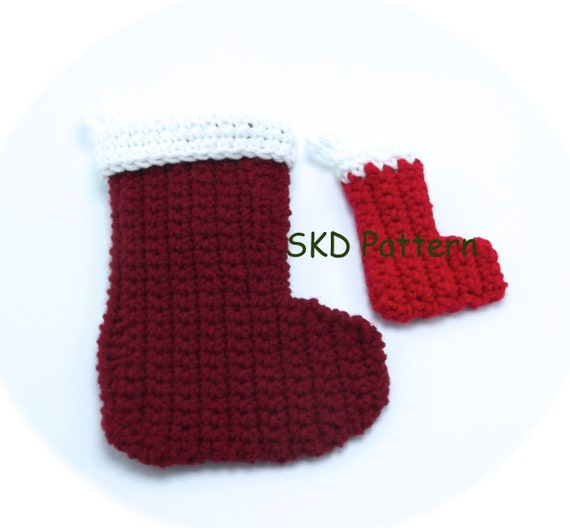 Crochet Christmas Stocking Pattern.Crochet Christmas Stocking Pattern With Bonus Mini Stocking Ornament Pattern Pdf Pattern