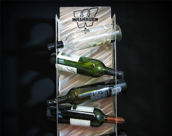 Wasburn University Stainless Steel Wine Bottle Holder (5 bottles)