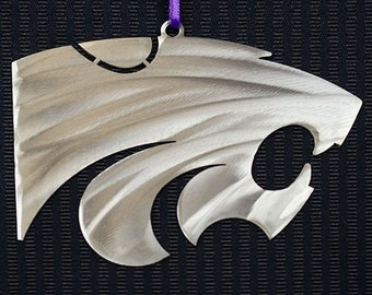 Kansas State Powercat Ornament 4""