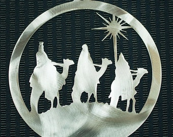 Wisemen Christmas Ornament Stainless Steel