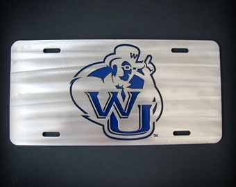 Washburn University Stainless Steel Car Tag WU
