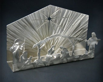 Stainless Steel Nativity