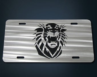 Fort Hays State Layered Stainless Steel License Plate
