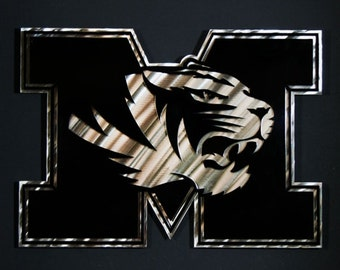 18 Stainless Steel Metal Layered Mizzou Wall Art Missouri College Man Cave