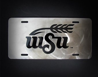 Wichita State University Stainless Steel Car Tag License Plate