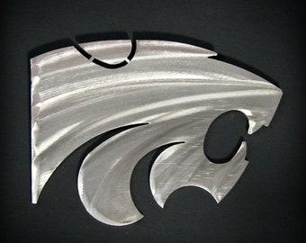 "Kansas State Powercat Magnet Stainless Steel 4"""