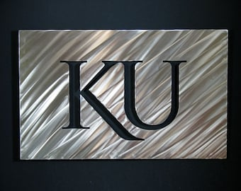 "The University of Kansas KU Stainless Steel Wall Art 18"""