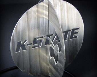 """Kansas State Ornament 3D Powercat and K-State 4"""""""