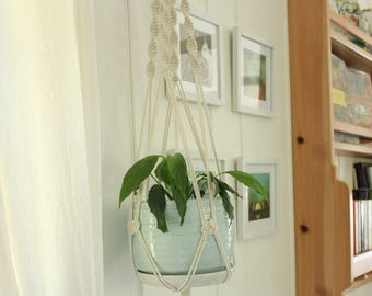 Large Macrame Plant Hanger - Muse, Natural Cotton Rope Hanger Wooden Ring, Hanging Planter | Made to Order |Free Shipping Australia