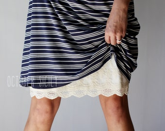 dfedf584a2 H2- Modest Opaque Lace Dress Extender HALF SLIP *Style 2* size S-3XL