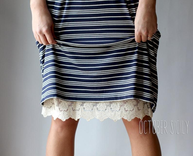 2241f219c3 H1 Lace Slip Dress Extender HALF SLIP Style 1 size S-3XL | Etsy