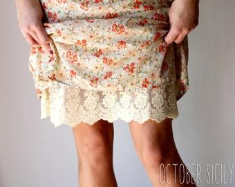 F1- Lace Slip, Dress & Skirt Extender *Style 1* Full Slip S-4XL