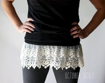 T6- Lace Top Shirt Extender *Style 6* Small-4XLarge