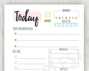 Personal Planner Inserts Printable To Do List, Personal Planner, Planner Inserts, Personal Size, Daily Planner, Personal Filofax - PDF