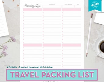 packing list etsy