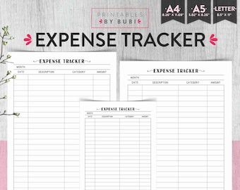 expense tracker etsy