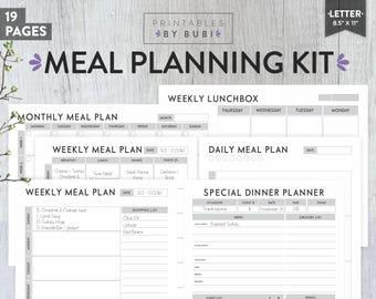 weekly meal planner weekly meal plan weekly menu planner etsy