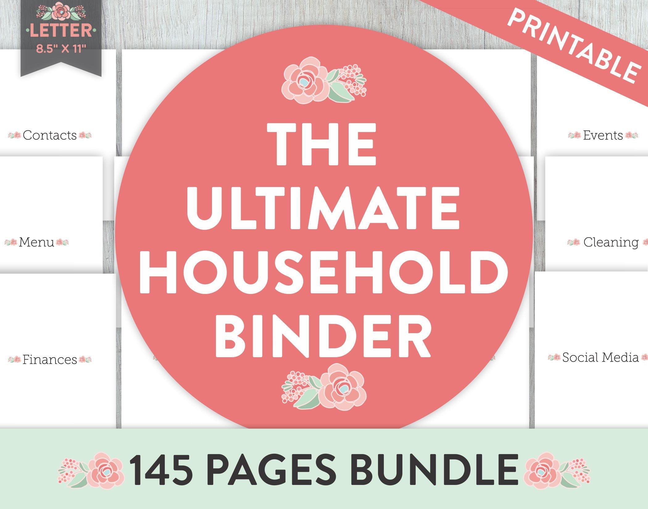Household Binder Life Planner Home Planner Printable   Etsy