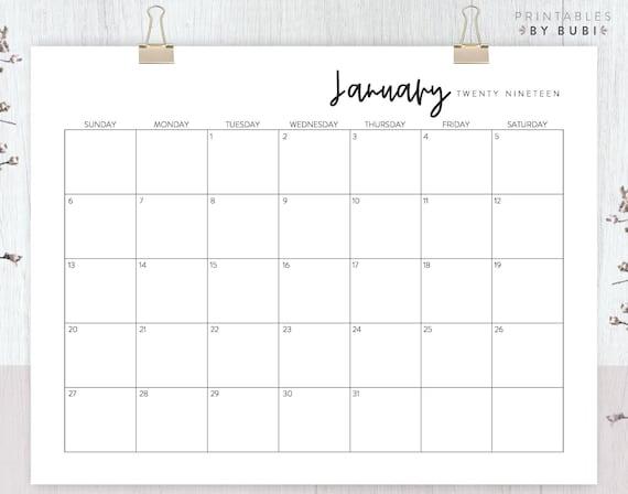2019 calendar printable wall calendar planner monthly