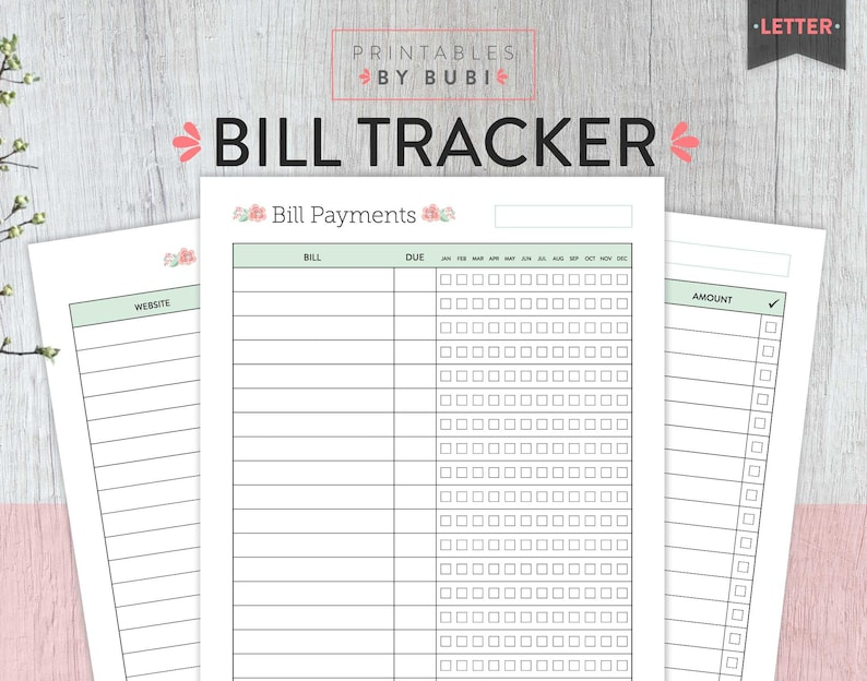 photo relating to Bill Payment Tracker Printable titled Monthly bill Tracker, Regular monthly Monthly bill Tracker, Invoice Planner printable, Monitoring Expenses, Invoice Cost, Regular Expenses Organizer, Income, Fee Tracker