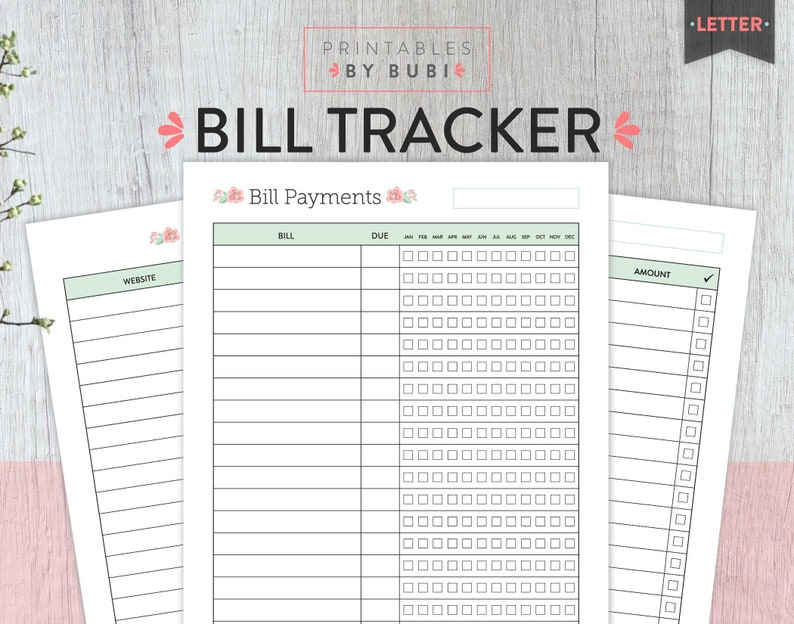 image about Bill Planner Printable identified as Monthly bill Tracker, Every month Invoice Tracker, Invoice Planner printable, Monitoring Expenditures, Invoice Cost, Month-to-month Charges Organizer, Economical, Fee Tracker