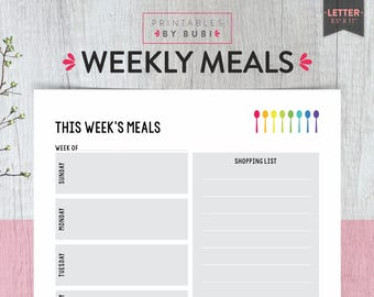week meal planner