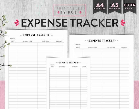 expense tracker finance planner expense tracker printable etsy