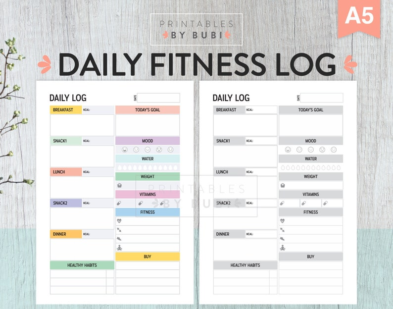 graphic relating to Printable Fitness Journal known as Printable Health and fitness Tracker Magazine, Conditioning and Conditioning Planner, Day by day Calorie Tracker, Physical fitness Targets, Practices, Drinking water Tracker, Training Log