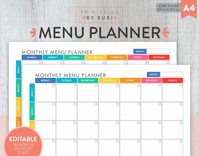 photograph relating to Weekly Meal Planning Printable identified as Weekly Supper Planner, Evening meal Program, Weekly Menu Planner, Weekly Dinner, Weekly Planner, Menu Board, Printable Weekly Menu, Dinner Creating Editable