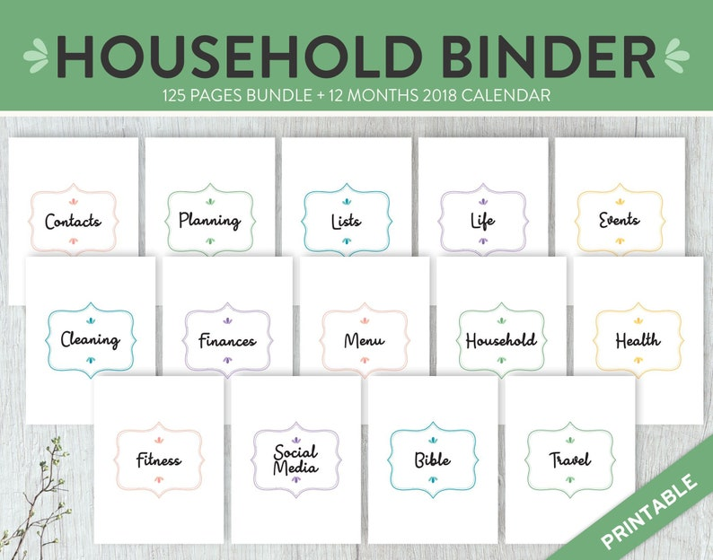 photo regarding Printable Life Planner named House Manage Binder Lifetime Planner Dwelling Planner Printable, House Planner Binder Loved ones Binder, Finances Planner Mother Planner PDF