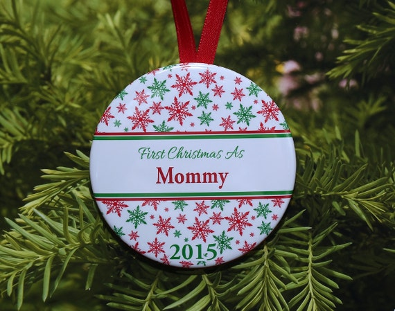 Christmas Tree Ornament Photo Picture Frame 3-in-1 Ribbon Snowflake Magnet New