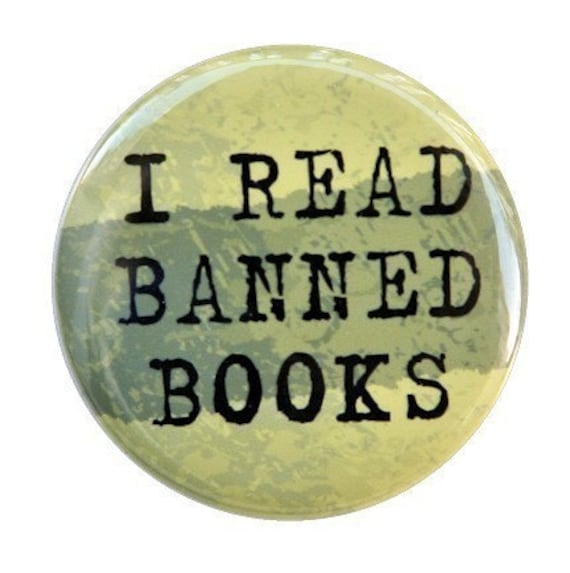 reading rebel pins for readers I Read Banned Books book pins 1.5 inch pin back button