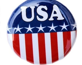 USA - Pinback Button Badge 1 inch