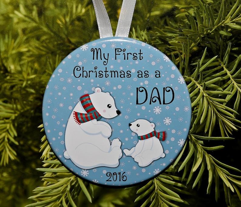 Polar Bears C156 Daddy New Dad First Christmas As A Dad Ornament