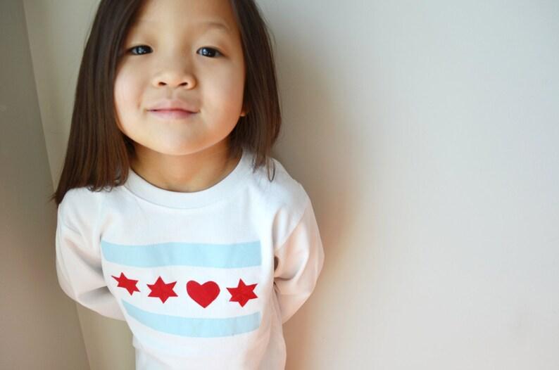 I Heart Chicago Long sleeve kids unisex shirt onesie onezee image 0