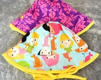 Merry Mermaids Sunhat, baby sunhat, girls sun hat, toddler summer hat, girls summer hat, baby sun hat, summer hat, baby summer hat