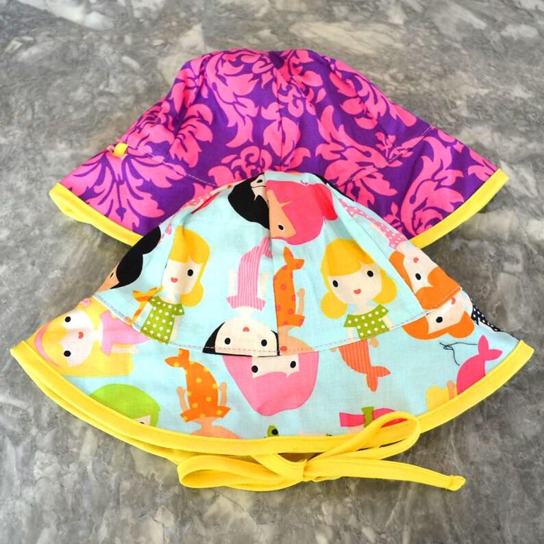 Merry Mermaids Sunhat baby sunhat girls sun hat toddler image 0