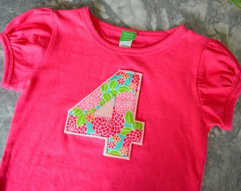 Number tee short sleeve girl tshirt, baby girl onesie onezee, girls clothing, baby girl clothing children's shirt  0-3 months to 8 years old