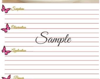 SOAP Bible Study Worksheet Template