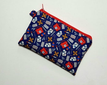 LONGER MEDIUM Pouch in First Aid Fabric