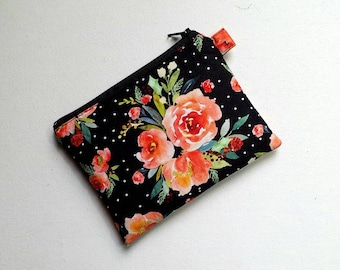 Medium Size Pouch in gorgeous floral