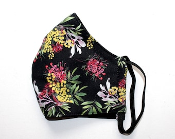 Fitted Face Mask in Wildflower Fabric