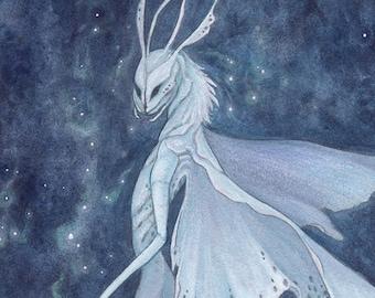 """Original Watercolor Painting """"Luminous"""" Faerie"""