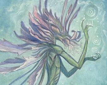 """5""""x7"""" Art Print """"Midsummer Flower Faerie"""""""