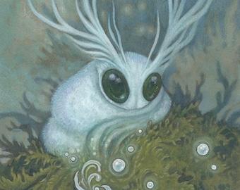 """8""""x10"""" Art Print """"Portrait of a Druid's Apprentice"""" Faerie"""