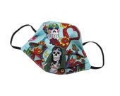 Day of the Dead - Variety of Figures - Handmade - Reversible - Washable - Face Cover - Face Touching Guard - For Adults