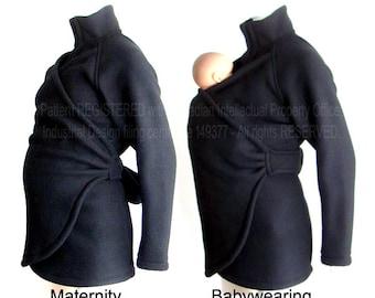No Insert  Maternity. Babywearing Coat. Maternity Clothes. Baby Wearing Jacket. Baby Clothes. Carry Coat. Sling. Babywearing Poncho.