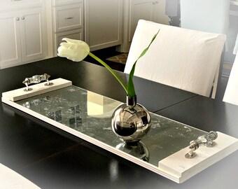 Catchall tray Gift set for Mom Concrete tray Spring table decor Geometric tray set Decorative tray Kitchen decor Vanity tray